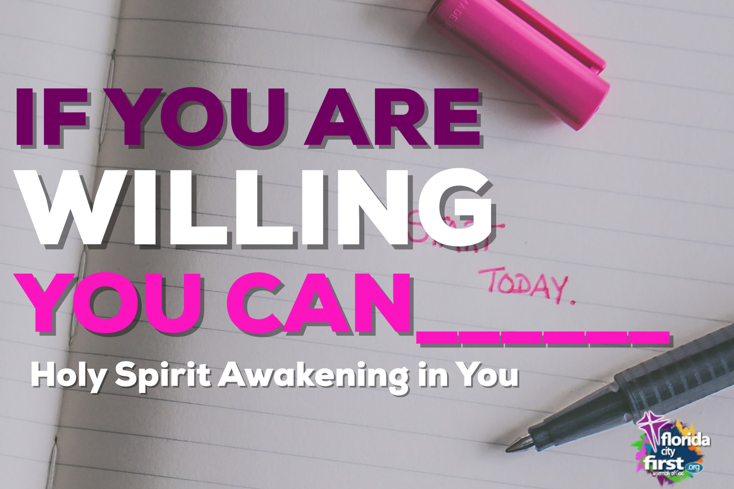 IF YOU ARE WILLING GOD CAN